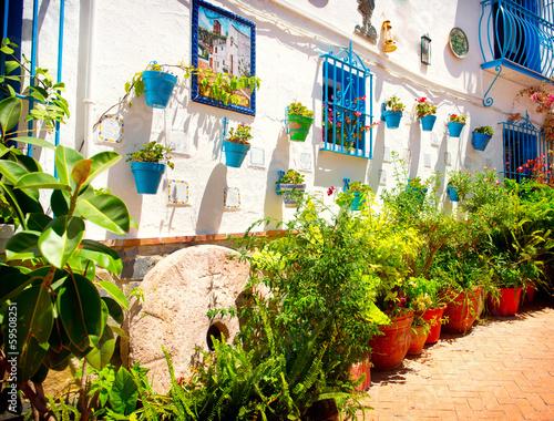 Spanien. Torremolinos. Costa del Sol, andalusisches weißes Dorf Fototapete