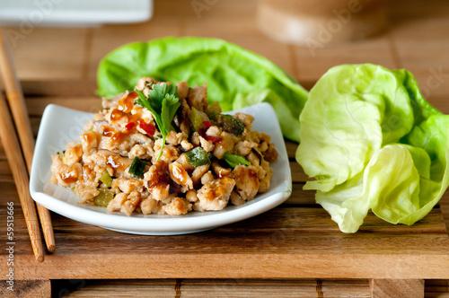 Fotografia  Chicken Lettuce Wraps