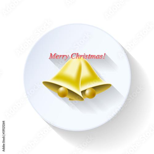 Spoed Foto op Canvas Klaar gerecht Christmas bells flat icon