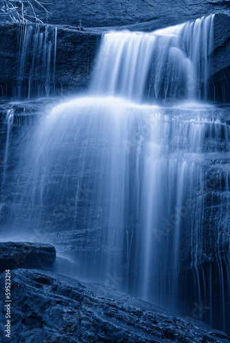 cascade in the forest with few water - 59523214