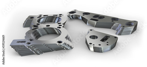 Türaufkleber Metall Punched metal parts