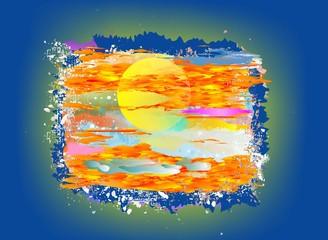 Fototapeta Abstrakcja Impresja na temat słońca,