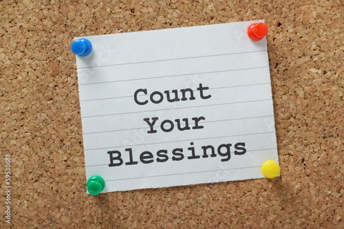 count your blessings on a cork notice board buy this stock photocount your blessings on a cork notice board