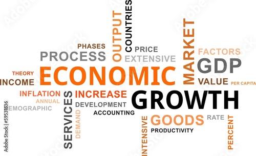Fotografía  word cloud - economic growth