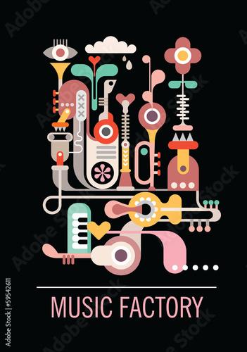 Cadres-photo bureau Art abstrait Music Factory