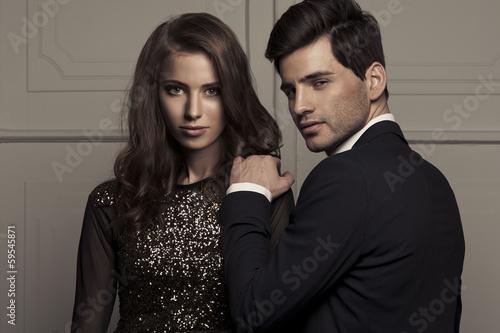 Fotografie, Obraz  Elegant lovely couple