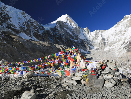 Wall Murals Nepal buddhism flag everest basecamp from nepal in