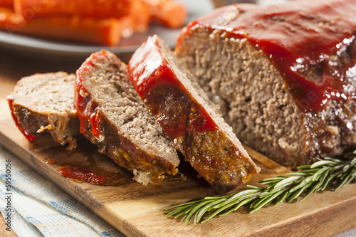 Homemade Ground Beef Meatloaf Wallpaper Mural