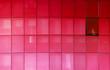 Leinwanddruck Bild - red office building