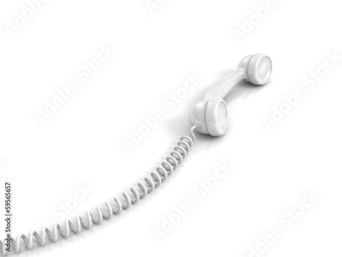 Prime White Telephone Handset With Spiral Wire Cable Buy This Stock Wiring 101 Nizathateforg