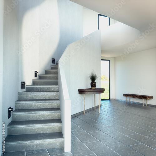 renderowanie-3d-schodow-z-ciemna-podloga