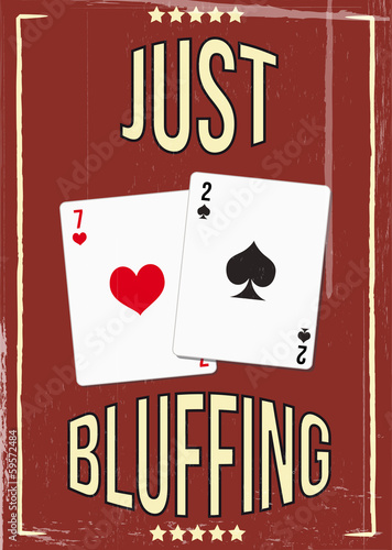 Tela Vintage poker poster