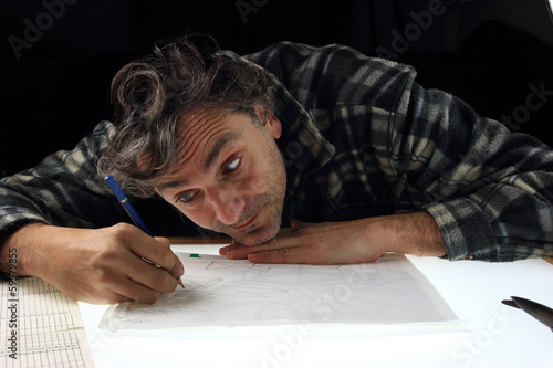 Fotografía  pencil drawing animator