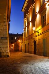 Fototapeta Kraków Kazimierz, former jewish quarter of Krakow: Jozefa Street, PL