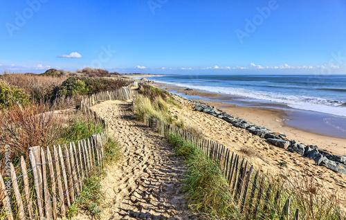Footpath on the Atlantic Dune in Brittany Wallpaper Mural