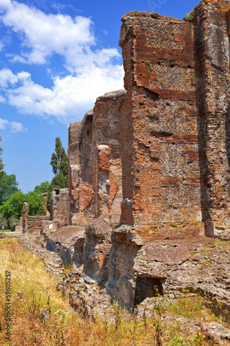 Photo  Villa Adriana-ruins  Adrian country house in Tivoli near Rome