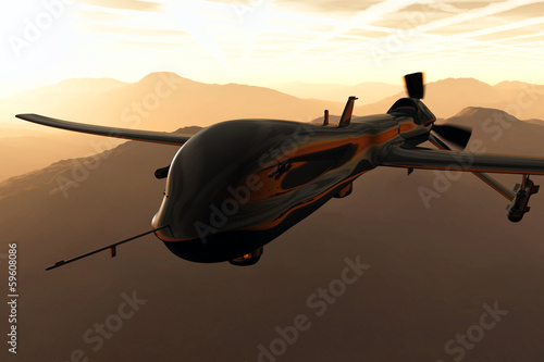 Valokuva  Predator Type Drone 3D artwork