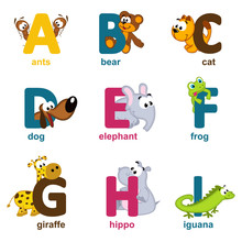 Alphabet Animals From A To I -...