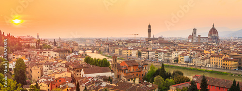 Foto auf Gartenposter Florenz Florence city during sunset