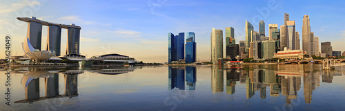 Photo  Singapore panorama city skyline