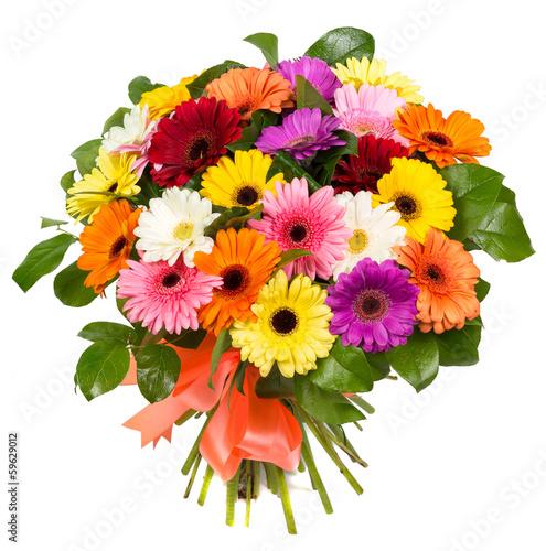 Fotografie, Obraz  Bouquet of colorful gerberas