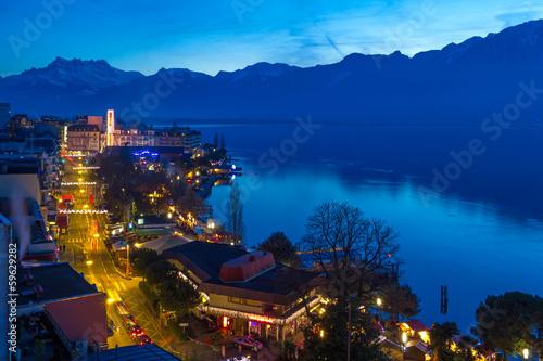 Fotografia Montreux bei Nacht