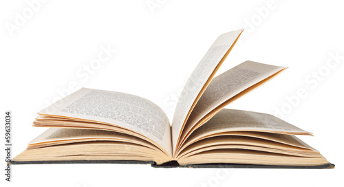 Fototapeta open book isolated on white background obraz