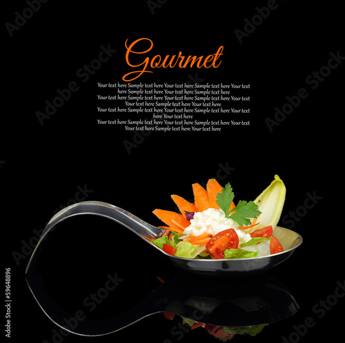Fotografie, Obraz  Gourmet creamy puree with vegetable decoration
