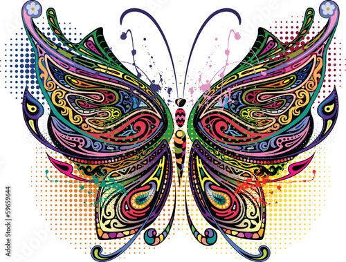 Foto op Aluminium Vlinders in Grunge Variegated butterfly