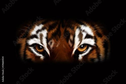 In de dag Tijger Tiger - digital art