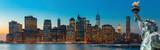 Fototapeta Nowy Jork - Evening New York City skyline panorama