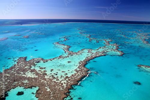 Printed kitchen splashbacks Australia Tropical reef leading to blue horizon