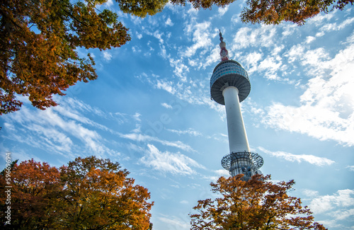 In de dag Seoel N Seoul Tower