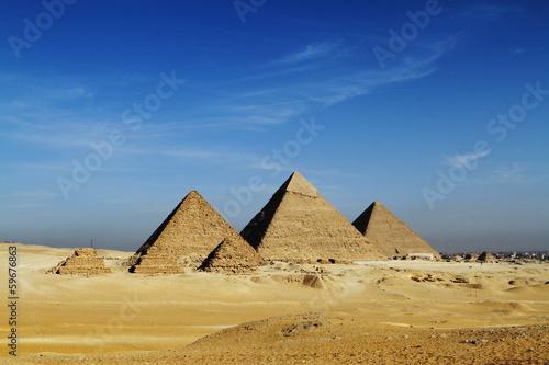In de dag Egypte Die Pyramiden von Gizeh