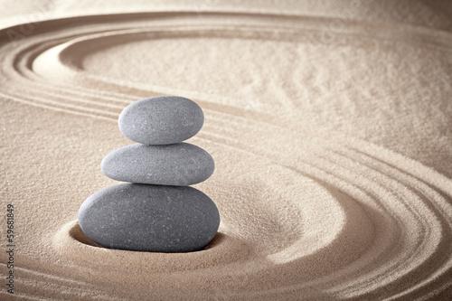 Obraz na plátně  spa zen meditation stones background