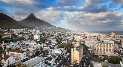 Foto op Plexiglas Zuid Afrika Urban City skyline, Cape Town, South Africa.
