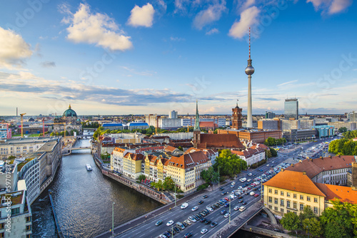 Berlin, germany Skyline Wallpaper Mural
