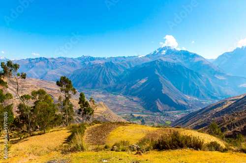 Fotografie, Obraz  Peru, Ollantaytambo-Inca ruins of Sacred Valley in Andes