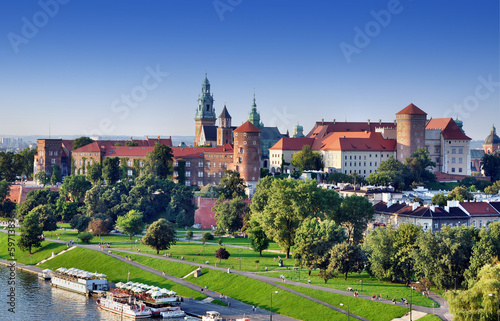 fototapeta na drzwi i meble Zamek Królewski na Wawelu w Krakowie, Polska