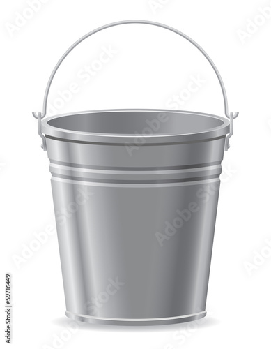 metal bucket vector illustration Wall mural