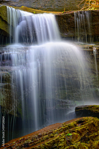 cascade in the forest with few water - 59720024