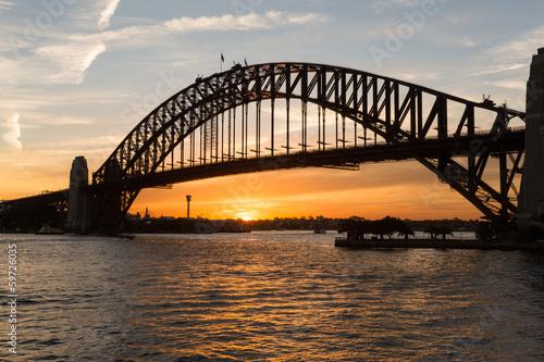 Sydney harbour bridge sunset © steheap