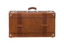 Alter Reise Koffer Freigestellt.