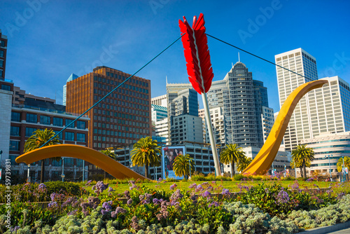 Canvas Prints San Francisco San Francisco Cupid's Statue, USA.