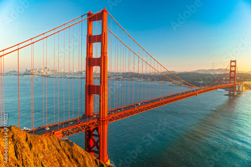 Autocollant pour porte San Francisco Golden Gate, San Francisco, California, USA.