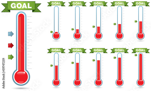 Goal Thermometer Canvas Print