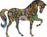 Fototapeta Horses - Cheerful horse