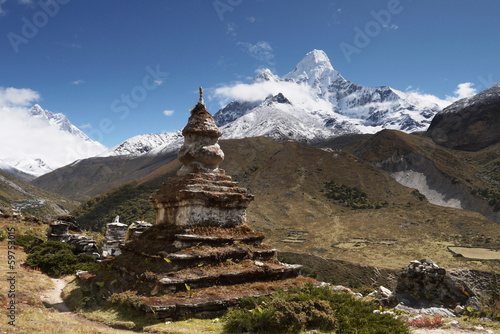 Tuinposter Nepal Himalayas, Ama Dablam peak