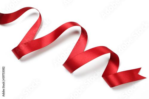 Obraz Red satin ribbon isolated - fototapety do salonu