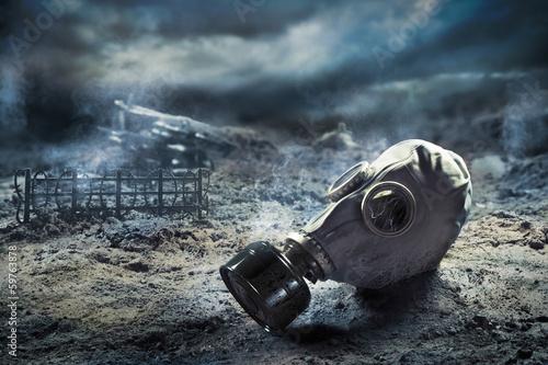Fotografie, Obraz  Gas mask in quemical war